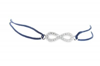 Bracelet cordon bleu infinity