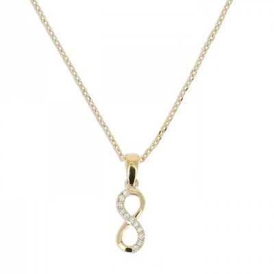 Collier Demi Infinity vertical