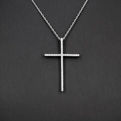 Collier croix d'argent