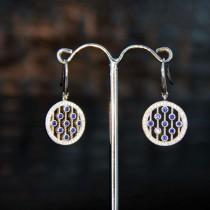 Boucles d'oreilles Eclat du jour en argent et zirconium