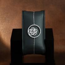 Bracelet Anémone argent et zirconium