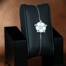 Bracelet Pensées en argent et zirconium
