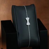 bracelet argent et zirconium noeud