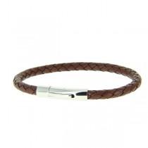 bracelet en cuir rocco brown