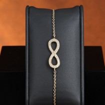 Bracelet plaqué or et oxydes de zironium infinity