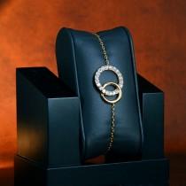 Bracelet cercles plaqué or bonny