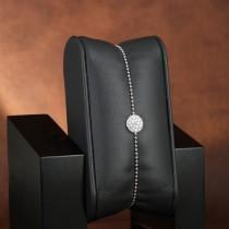 bracelet argent woo et zirconium