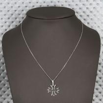 collier croix de malte argent