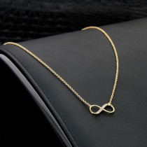 collier infinity plaqué or
