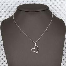 collier argent petit coeur