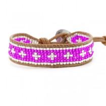 Bracelet perles violettes