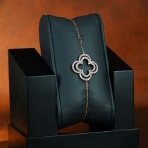 bracelet double trèfle vermeille