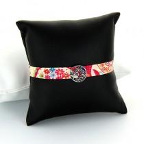 bracelet tendance étoiles tissu et argent