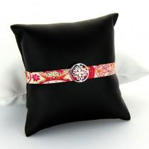 bracelet en tissu et argent oasis