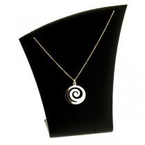 collier pendentif plaqué or spiral
